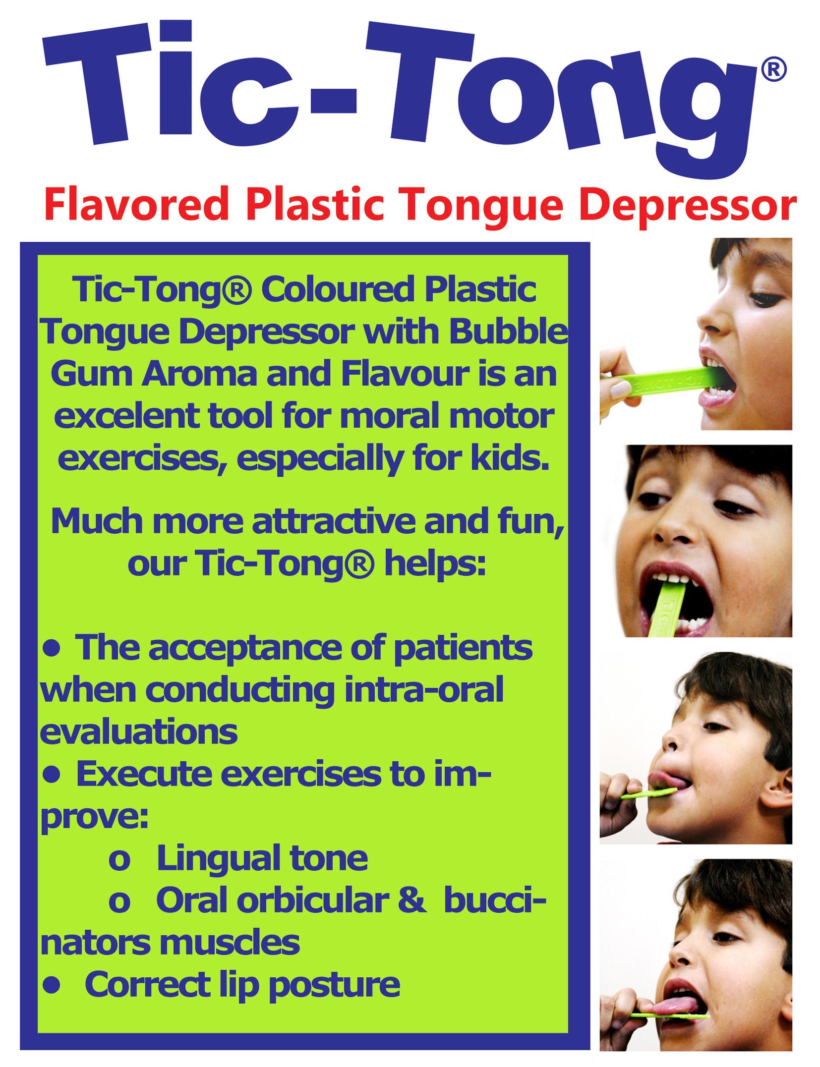 Flavoured Plastic Tongue Depressors Tic Tong